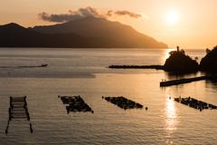 釣姫漁港の夕景