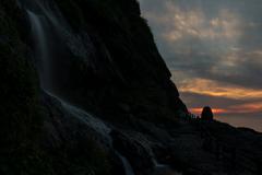垂水の滝夕焼け空