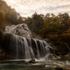 姥ケ滝の秋の夕暮れ