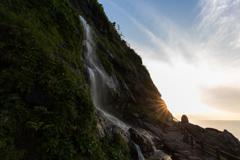 垂水の滝夕景