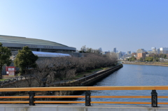 大阪街風景を撮ってみた-冬の大阪城ホール