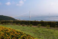 淡路SAから見た明石海峡大橋(淡路島観光より)