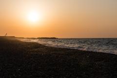 ヒスイ海岸の夕暮れ