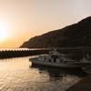 神子漁港の夕暮れ