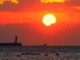 港の日の出