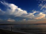 河口の朝雲