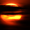 太陽と雲のバランス