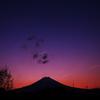 富士山と十字編隊