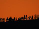 稜線の夕暮れ