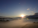 秋の棚田と雲海