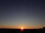 雲の無い朝
