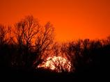 祭日の夕陽