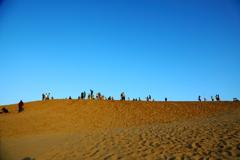 鳥取砂丘にて