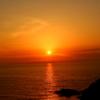 山口にて 夕陽