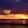 木曽川の日の出