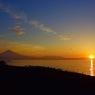 富士と朝日
