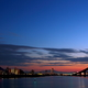 寒い朝の大橋