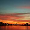 朝焼けの大橋