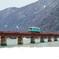 雪景色の由良川橋梁