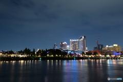 USJの夜景を眺める
