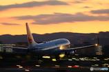 夕暮れの着陸機 #2