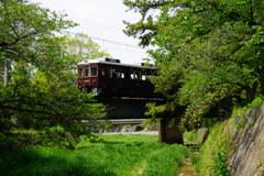 新緑の夙川鉄橋