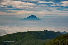 雲海と富士