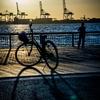 中央突堤と自転車