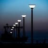 大阪港 ダイヤモンドポイント 街灯と船