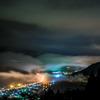 立雲峡 第一展望台からの夜景