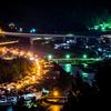 立雲峡からの夜景
