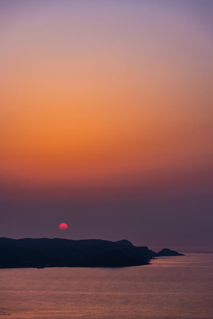 陽が沈む時