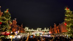 Crowded Christmas Market
