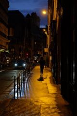 パリの夜道