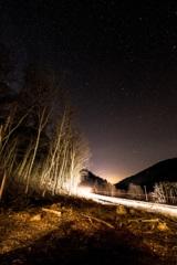 スロバキアの星空と閃光