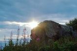 山頂の朝日