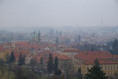 霞むプラハ全景