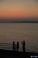 宍道湖夕焼け