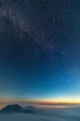 阿蘇夏の夜空ショー 雲海 天の川 流れ星