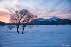 夜明けの磐梯山
