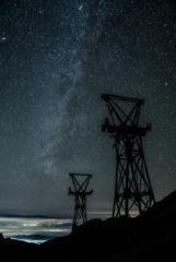 晩秋の毛無峠の星たち