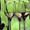 緑の中のグラス