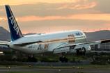 夕暮れ時 Boeing 767-300 STAR WARS ANA JET