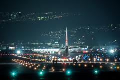 夜の出発便 「Embraer E190」 SP500 F8