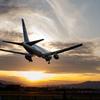 夕暮れの到着便 「Boeing 767-300」