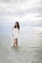 「Cloudy sky blue sea」2