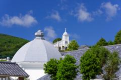ロザリオ館から望む大江天主堂