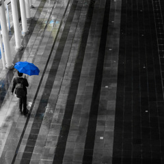 blue unbrella