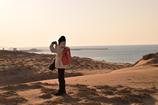 鳥取砂丘、頂上からの眺め。