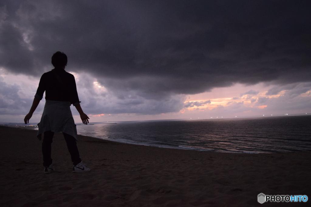 夜の鳥取砂丘